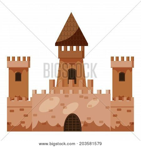 Historical castle icon. Cartoon illustration of castle vector icon for web art