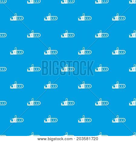 Chainsaw pattern repeat seamless in blue color for any design. Vector geometric illustration