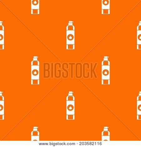 Air freshener pattern repeat seamless in orange color for any design. Vector geometric illustration