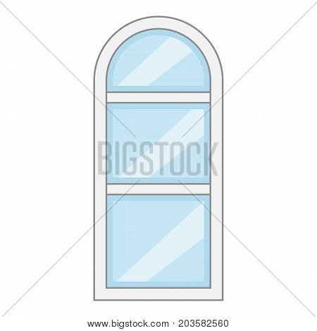 Narrow window frame icon. Cartoon illustration of narrow window frame vector icon for web