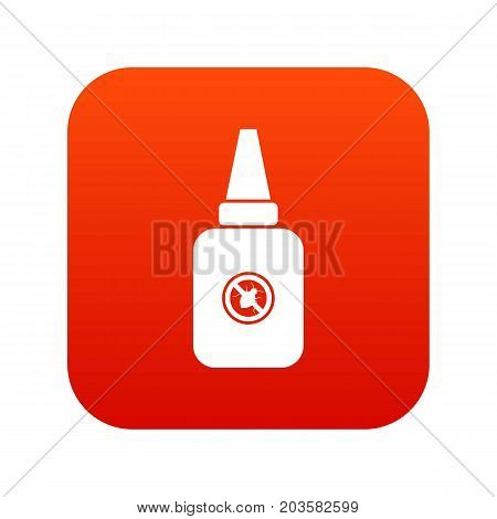 Insect spray icon digital red for any design isolated on white vector illustration