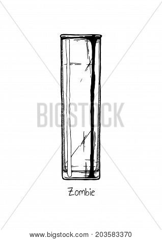 Illustration Of Tumbler Glass. Zombie