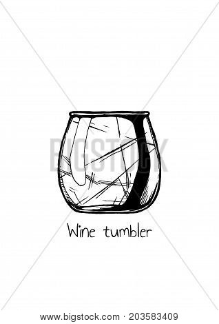 Illustration Of Wine Tumbler Glass