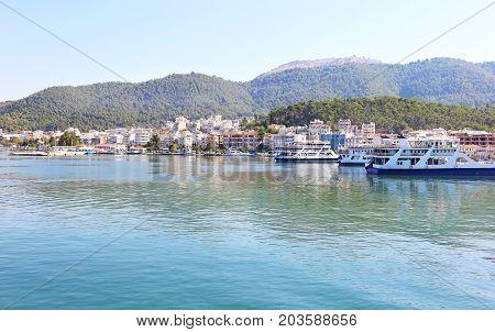 summer landscape of Igoumenitsa Thesprotia Epirus Greece