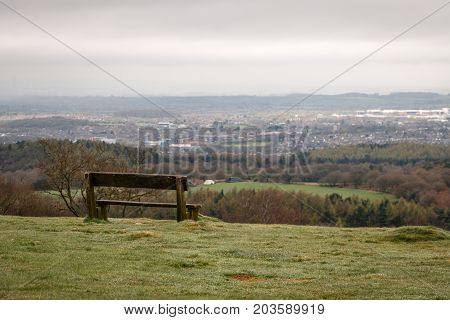 Cloudy And Depressing Day With A Stunning View From Beacon Hill Looking At The Surrounding Countrysi