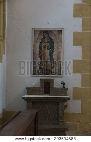Paray Le Monial France - September 13 2016: The interior of the Basilica du Sacre Coeur in Paray-le-Monial France