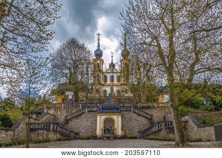 Kappele (church Wallfahrtskirche) with stairs Wurzburg Germany