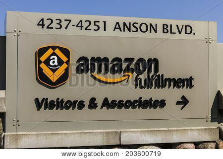 Whitestown - Circa September 2017: Amazon.com Fulfillment Center. Amazon is the Largest Internet-Based Retailer in the United States VI