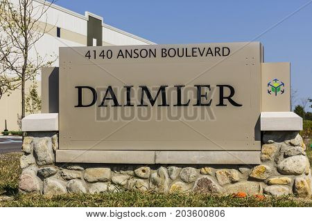 Whitestown - Circa September 2017: Daimler Trucks North America Distribution Center. Daimler Trucks is formerly Freightliner Corporation and owned by Daimler AG II