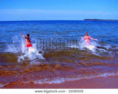 Woman Swiming