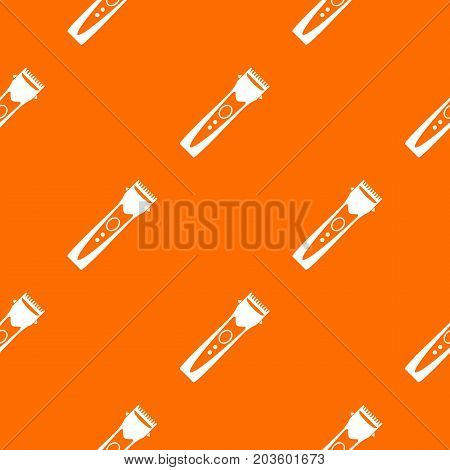 Clipper pattern repeat seamless in orange color for any design. Vector geometric illustration