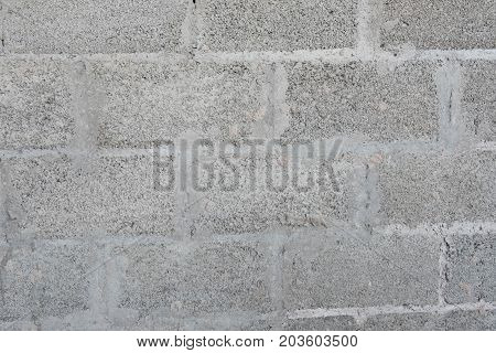 Texture of expanded clay block background for advertising of building materials concrete block.