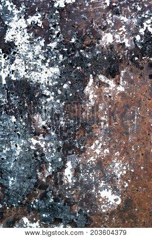 Grunge Brushed Metal Background. Dark Worn Rusty Metal Texture Background. Worn Steel Texture Or Met