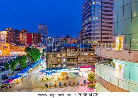 TAIPEI TAIWAN - JULY 01: This is a view of Guanghua electronics market area an area dedicated to selling consumer electronics on July 01 2017 in Taipei