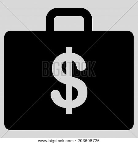 Business Case vector icon. Flat black symbol. Pictogram is isolated on a light gray background. Designed for web and software interfaces.
