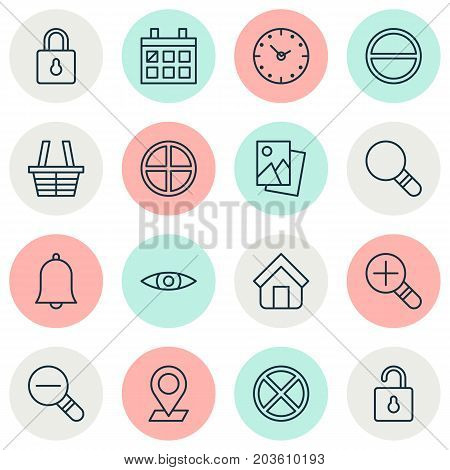 Network Icons Set. Collection Of Unlock, Calendar, Research And Other Elements