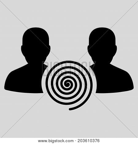 Hypnosis Sect vector icon. Flat black symbol. Pictogram is isolated on a light gray background. Designed for web and software interfaces.