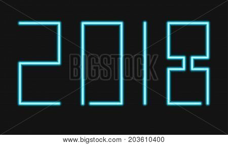 vector modern neon 2018 happy new year background