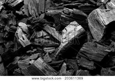 Black Charcoal Texture Background.selective Focus.black Stylsih Background