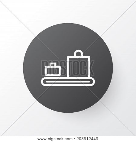 Premium Quality Isolated Baggage Carousel Element In Trendy Style.  Luggage Conveyor Icon Symbol.