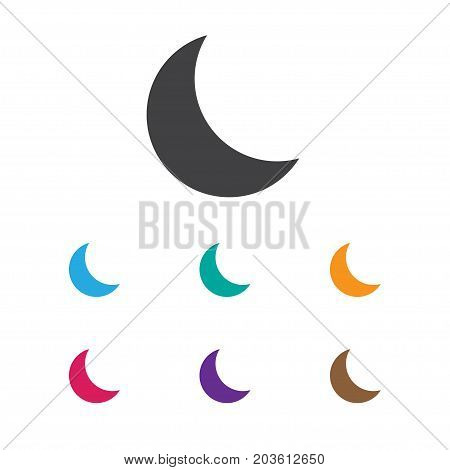 Vector Illustration Of Holiday Symbol On Moon Icon