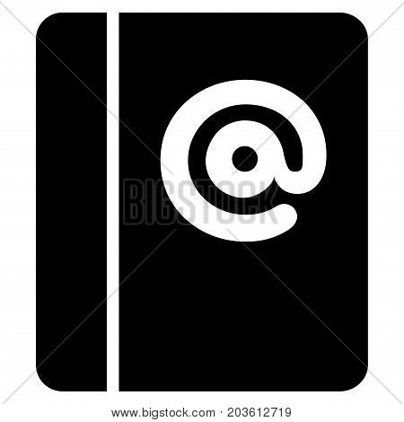 Emails vector icon. Flat black symbol. Pictogram is isolated on a white background. Designed for web and software interfaces.