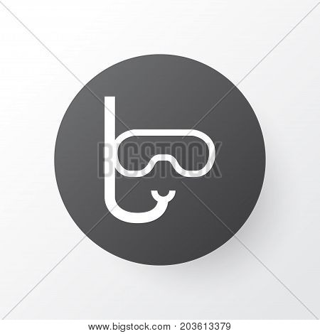 Premium Quality Isolated Goggles Element In Trendy Style.  Swimming Mask Icon Symbol.