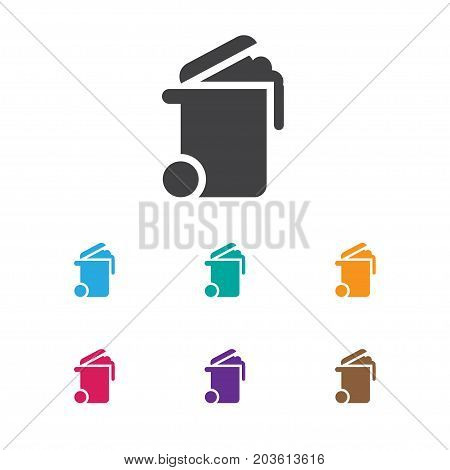 Vector Illustration Of Cleanup Symbol On Bin Icon
