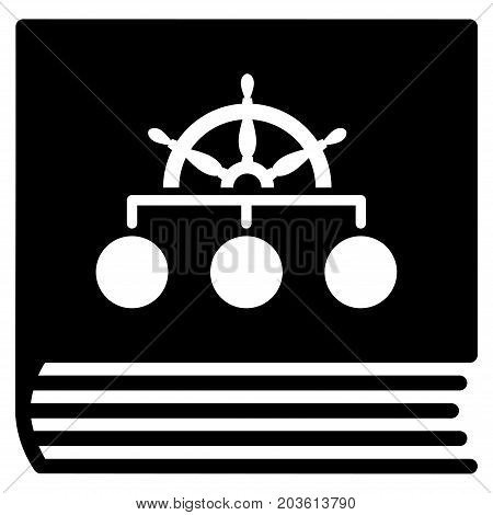 Ship Guide Book vector icon. Flat black symbol. Pictogram is isolated on a white background. Designed for web and software interfaces.
