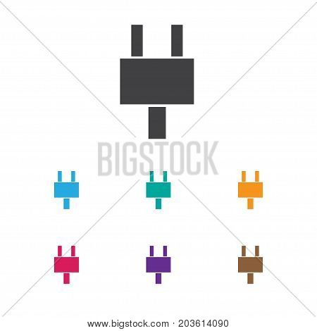 Vector Illustration Of Office Symbol On Plug Icon