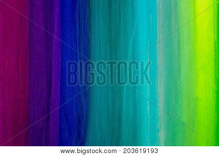 Close up of colorful textile threads pattern