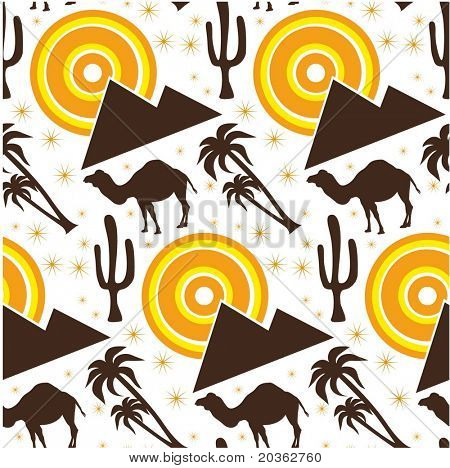 Seamless desert background