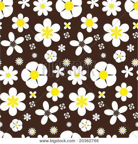 Seamless daisy backgroud