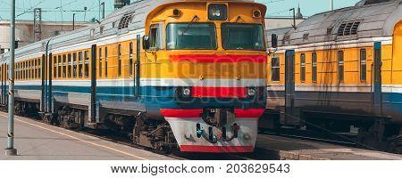 Yellow Diesel Train