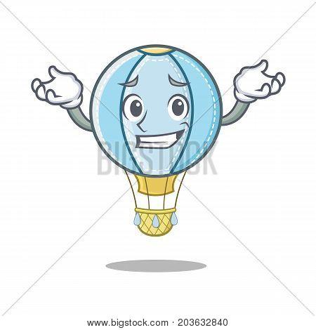 Grinning air balloon character cartoon vector illustration