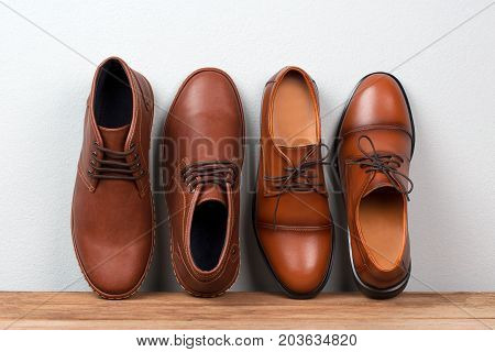 Vintage Fashion Leather Men Shoes Luxury Design.