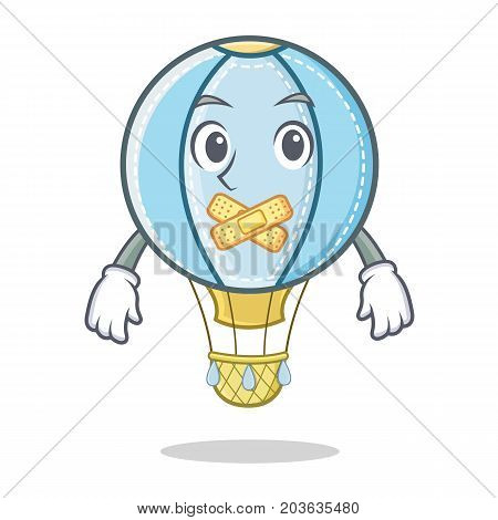 Silent air balloon character cartoon vector illustration