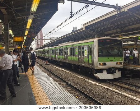 TOKYO JAPAN - July 26 2017 : Shinjuku train station.Shinjuku is one of the important district with one of the biggest train station in Japan.