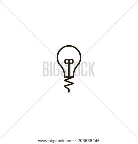 Lamp flat icon. Single high quality symbol of line light bulb vector for web design or mobile app. Color sign of energy for design logo. Single pictogram on white background