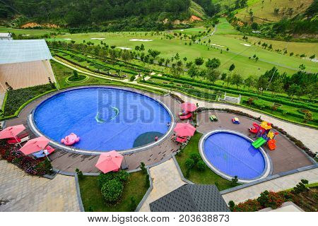 Mountain Resort With Swimming Pool
