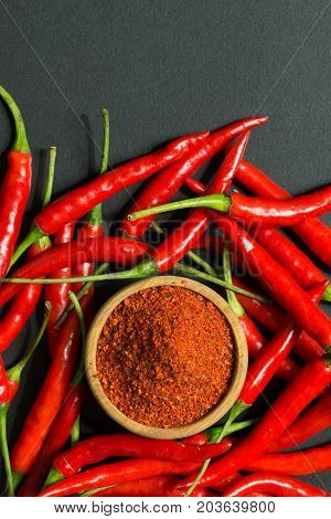 Red Chili Peppers And Chili Flakes