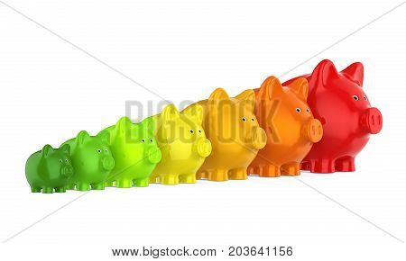 Energy Saving Consumption Concept isolated on white background. 3D render