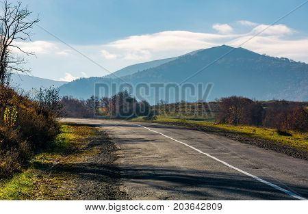 Countryside Road In Autumnal Mountainous Area