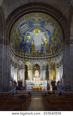 Inside Basilica Du Sacre Coeur