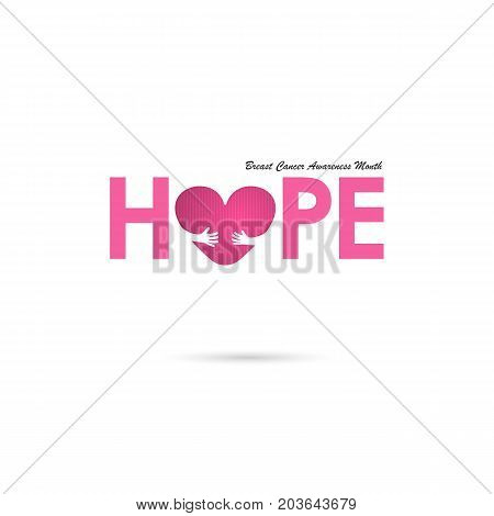 Breast Cancer October Awareness Month Campaign Background.Women health vector design.Breast cancer awareness logo design.Breast cancer awareness month icon.Realistic pink ribbon.Pink care logo.Vector illustration