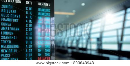 LED Display - Airport flight status board (Photo and 3D Rendering)