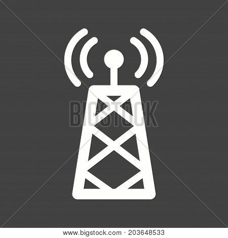 Signals, telecom, tower icon vector image. Can also be used for news and media. Suitable for web apps, mobile apps and print media.