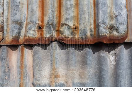 Rusty galvanized iron sheets background pattern texture poster