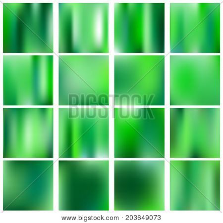 Square blurred nature green eco backgrounds. With various quotes. Forest sunset and spring flowers leaves blurred green background