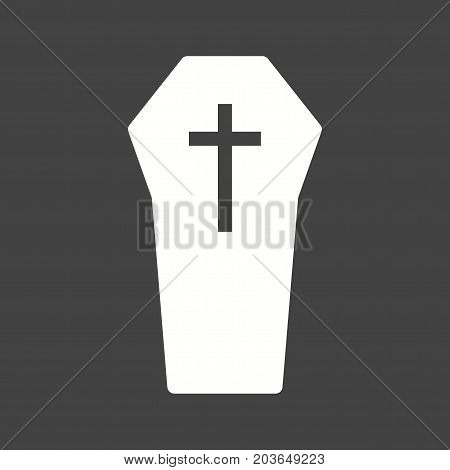 Funeral, coffin, death icon vector image. Can also be used for funeral. Suitable for mobile apps, web apps and print media.